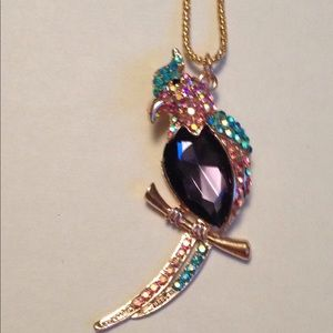 Betsey Johnson parrot necklace
